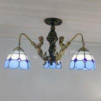Üreticileri toptan Tiffany lamps3Mermaid tavan balkon yatak odası stüdyo aydınlatma basit moda Akdeniz Mavi
