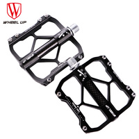 WHEEL UP High Quality Bicycle Pedals Aluminium Alloy Carbon Tube Bike Pedal CNC 3 Bearings Cycling