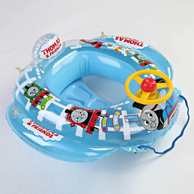 2017 High Quality Safe Cartoon Baby Swimming Seat Ring Kids Inflatable Car Style Pool Float Boat Children Swim Ring Safty