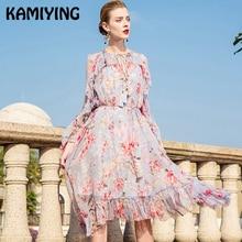91cdccdb0b8787d KAMIYING/платье с цветочным узором; женские кружевные платья с воротником в  английском стиле;
