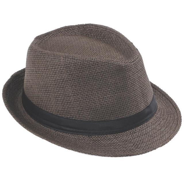 Lnpbd Hot Unisex Women Men Fashion Summer Casual Trendy Beach Sun Straw Panama Jazz Hat Cowboy Fedora Hat Gangster Cap by Lnpbd