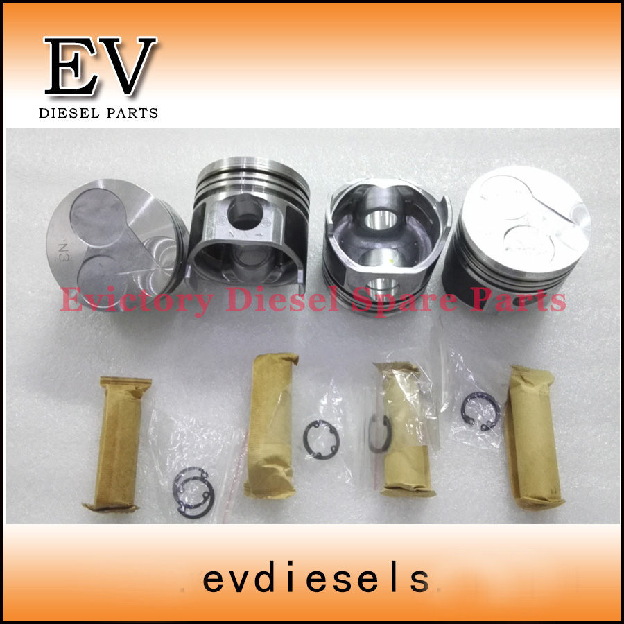 Oversize +0.50 V1505 piston piston ring cylinder liner full gasket kit  crankshaft bearing con rod bearing water pump -in Pistons, Rings, Rods &  Parts from ...