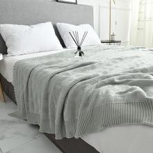 Morbide coperte grandi per letti biancheria da letto in cotone Plaid coperta per maglieria aria condizionata comodo letto per dormire copriletti manta para divano