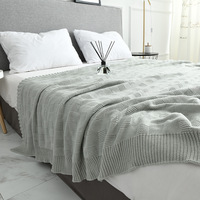 Soft Big Blankets for Beds Cotton Bedding Plaid Knitting Blanket Air Conditioning Comfy Sleeping Bed Bedspreads manta para sofa