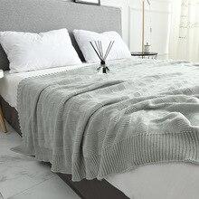 Zachte Grote Dekens voor Bedden Katoenen Beddengoed Plaid Breien Deken Airconditioning Comfy Slapen Bed Spreien manta para sofa