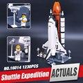Nueva Lepin 16014 1230 Unids fuera de impresión Shtttle Expedición Nave Espacial 10231 Bloques Buliding Ladrillos Juguetes Educativos