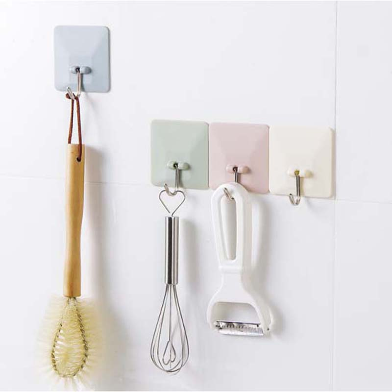 Cysincos Multifunction Storage Holder Strong Suction Cup Sucker Wall Hooks Hanger For Kitchen Bathroom Organizer Cooking Hook