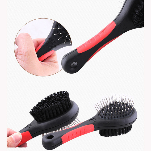 Pet Comb Double Sided Pet Brush Dog Cat Hair Grooming Fur Shedding Massage Cleaning Comb Multifunction Pet Grooming Tool