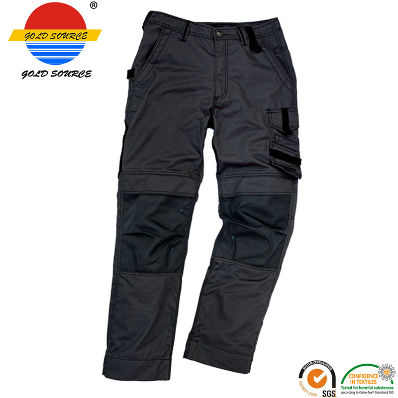 New Sale Premium Workers Trousers Multi Pockets Black Work Wear Cargo Pants For Men