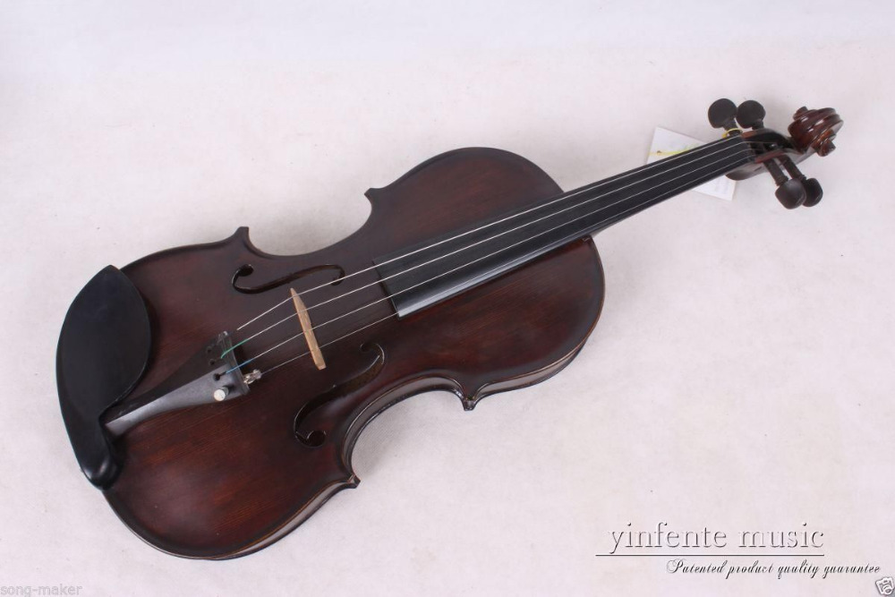 New Acoustic Violin 4/4 Full Size Maple Spruce wood Advance Retro #014 5 string electric acoustic violin 4 4 full size maple spruce wood advance