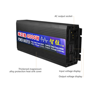 Image 2 - SUNYIMA 4000W DC12V/24 V/48 V כדי AC220V טהור סינוס גל מהפך כפול תצוגה דיגיטלית ממיר עבור חשמל ביתי ממיר