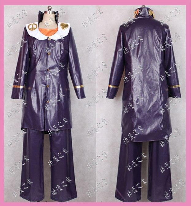 Anime JoJo's Bizarre Adventure Josuke Higashikata Cosplay Costume Outfit Any Size