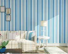 beibehang Simple Mediterranean style 3d wallpaper living room TV background fashion vertical striped nonwoven wallpaper tapety beibehang wallpaper mediterranean style nonwoven fabric lattice bedroom living room children room full of wallpaper