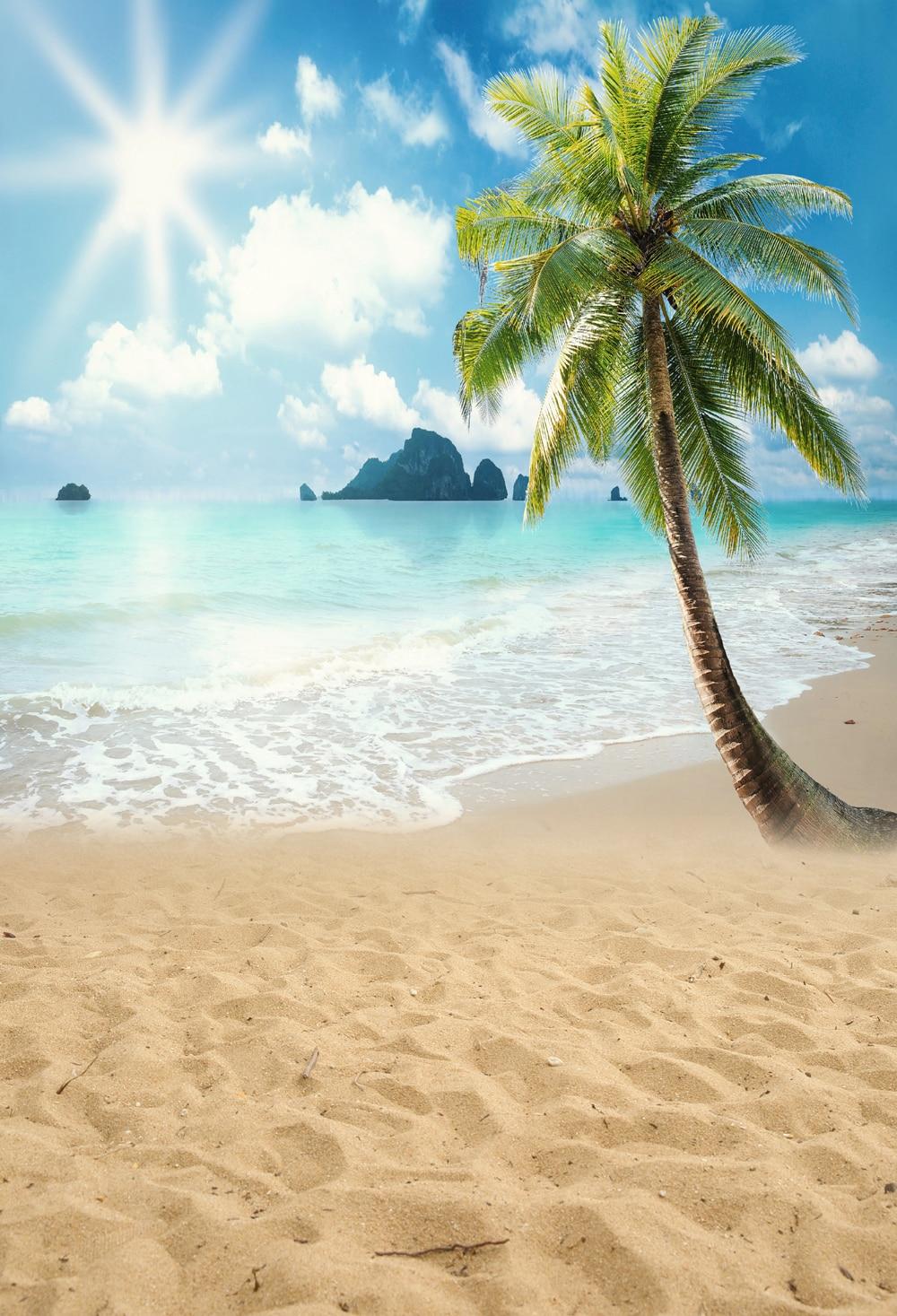 HUAYI Beach Scenery Backgrounds Photo Backdrop Wedding