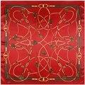 [Lesida] lo nuevo Pañuelo de Seda Bufanda de Las Mujeres Bufanda Cuadrada Impresión Cuerda Cadena Borla Chal Bufanda del Poliester de la Alta Calidad 90*90 CM 9104