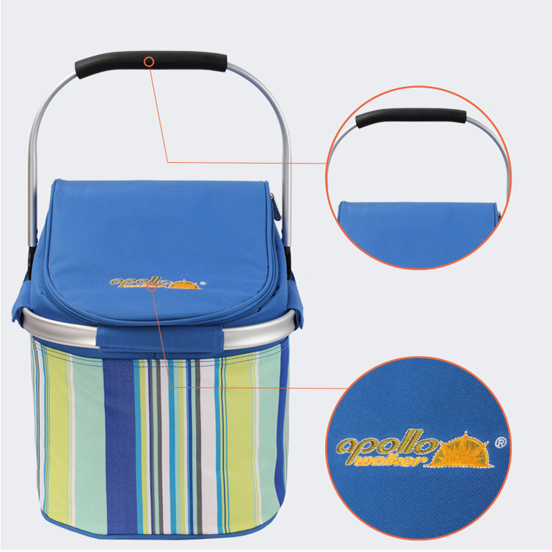 buy apollo large picnic thermal cooling basket insulated cooler bag 32l lunch bag waterproof foldable ice bag from reliable ice bag - Insulated Cooler Bags