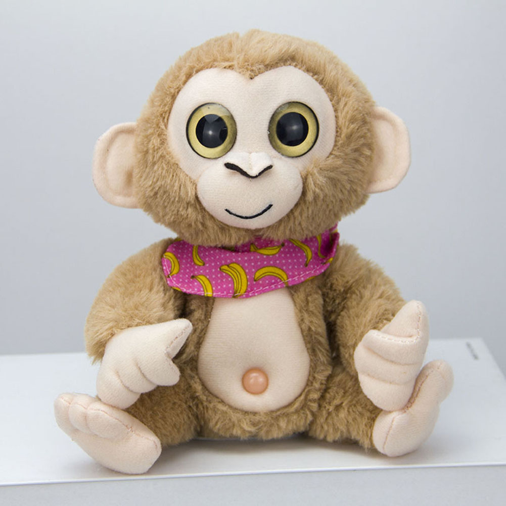 5 Colors Plush Toy Electricity Record Learning Swing Monkey Doll Simulation Monkey Walkie Talkies Children Gift Dropshiping 2