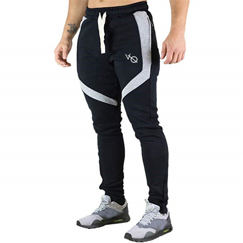 Black trousers 2019 new males's informal trousers jogger gyms sweatpants trend bodybuilding trousers model pattern males's clothes Skinny Pants, Low-cost Skinny Pants, Black trousers 2019 new males's informal trousers...