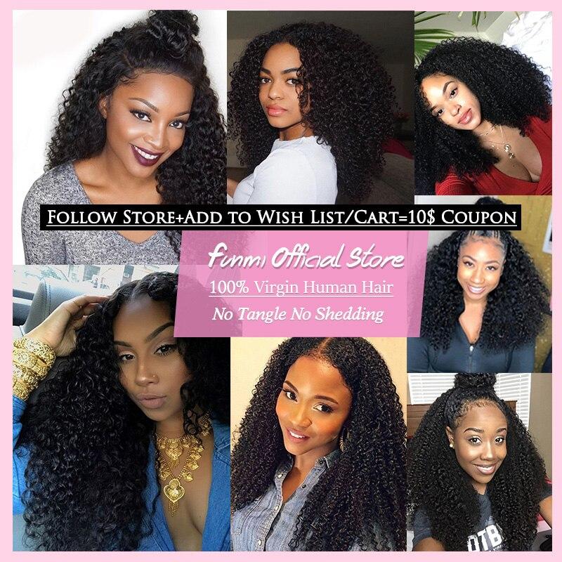 Brazilian Kinky Curly Hair Bundles 100% Unprocessed Brazilian Virgin Hair Curly Hair Extensions Funmi Human Hair Free Shipping