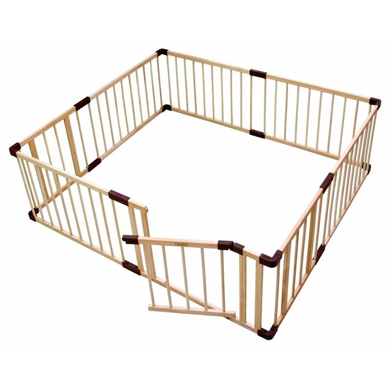 Marca bebé juego cerca arrastrarse barandilla seguro obstáculos de los niños de madera maciza bebé juego guardia panel enviar regalos