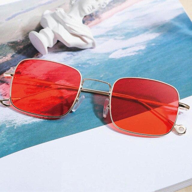 7bef3532672b9 Quadrado do vintage óculos de sol das mulheres de Design Da Marca mulher  retro verão lente