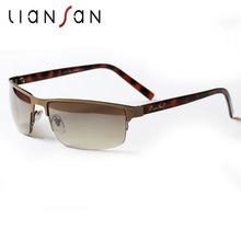 LianSan Vintage Pilot Square Half Rim Rimless Sunglasses Women Men Aviator Brand Designer Luxury Fashion Driving Anti UV LSX620