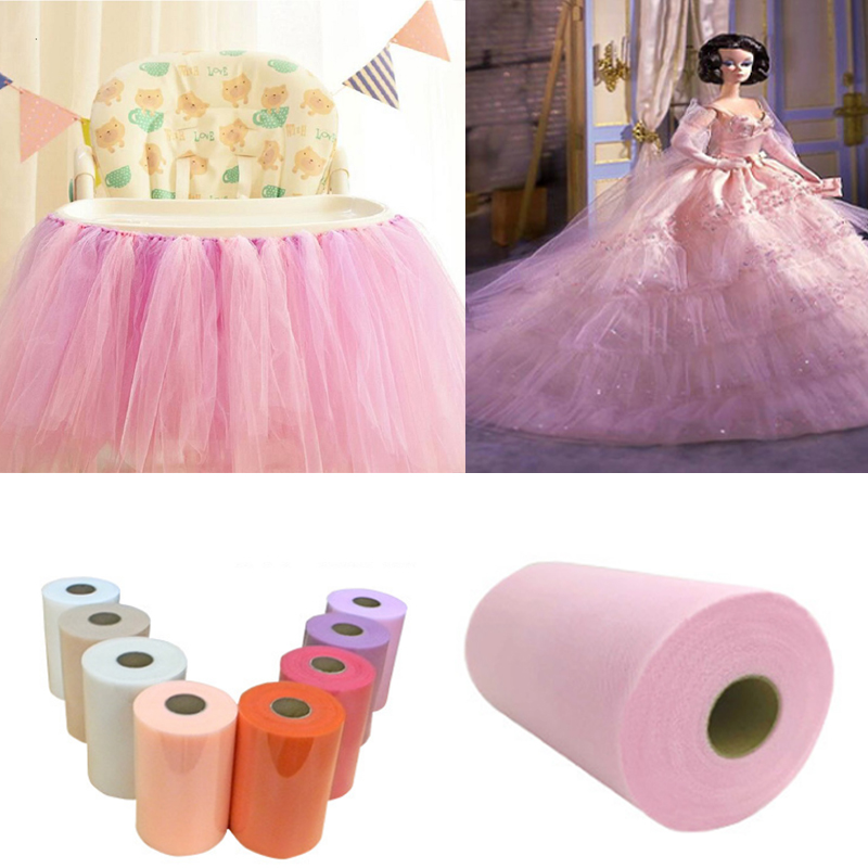 Tulle Roll Spool 15cm/6inch Wide Organza Roll Red/Blue Etc Fabric Tutu Skirt Girl Baby Shower/wedding Decor Party Supplies Wh