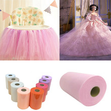 Tulle Roll Spool 15cm/6inch wide Organza Roll Red/Blue etc Fabric Tutu Skirt Girl Baby Shower/wedding Decor Party Supplies Wh(China)