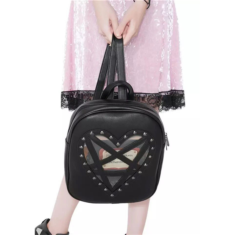 Backpack Vintage Gothic Retro Rock PU Leather Punk