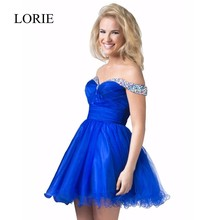 Red Short Prom Dresses Tulle 2016 Robe De Cocktail Party kleider Boot-ausschnitt Perlen Sexy Mädchen Royal Blue Party Kleider kleider