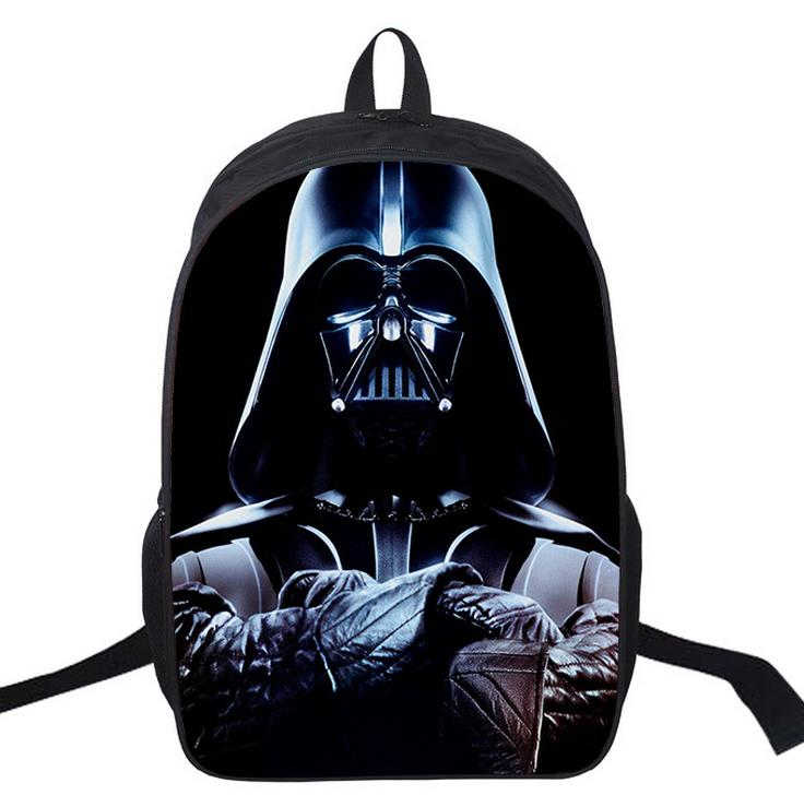 16 Inch Kids Backpack Star Wars Darth Vader School Bags Satchel 3D Cartoon Orthopedic Children School Boys Mochila Gift