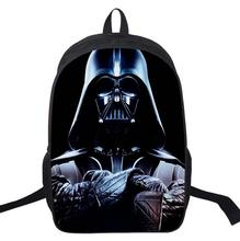 16 Inch Kids Backpack Star Wars Darth Vader School Bags Satchel 3D Cartoon Orthopedic Children School Bags For Boys Mochila Gift