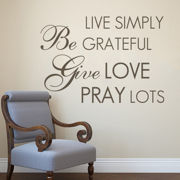 ▻Live Simply- Vinyl Lettering life decal family wall words graphics ...