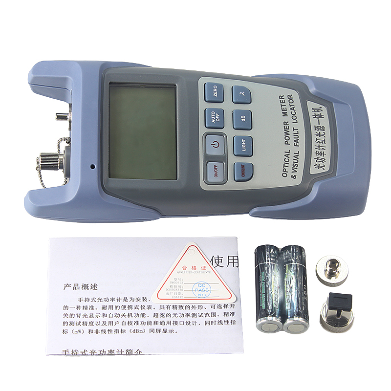 All-in-one PC Fiber Optic Power meter with 10km Laser source Visual Fault locator 10mw