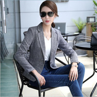 2017 Nuevas mujeres Primavera y El Otoño de Moda de Corea delgado chaqueta pequeño traje chaqueta más el tamaño de la capa