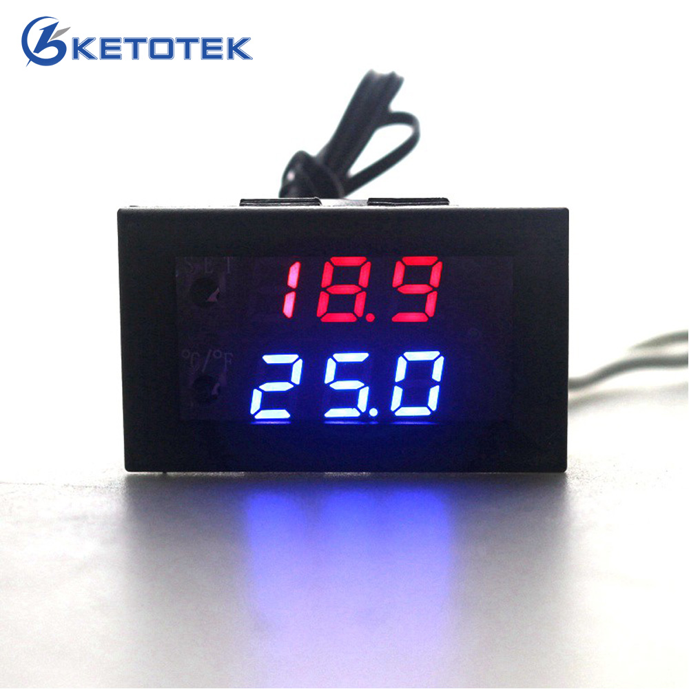 12V Digital LED Microcomputer Thermostat Controller Switch Temperature Sensor R