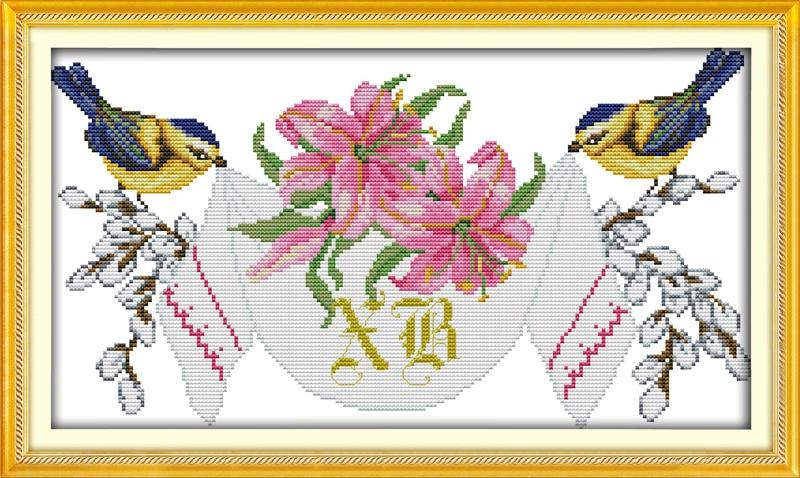 Joy sunday still life style Wedding anniversary cross stitch kits needlepoint patterns online for sitting room decoration