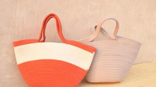 Aliexpress.com : Buy 2016 cotton rope knitting handbag beach bag ...