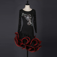 Competition Fringe Latin Dance Costumes For Women Customize Salsa Latin Dress Latin Dance Dress For Girls