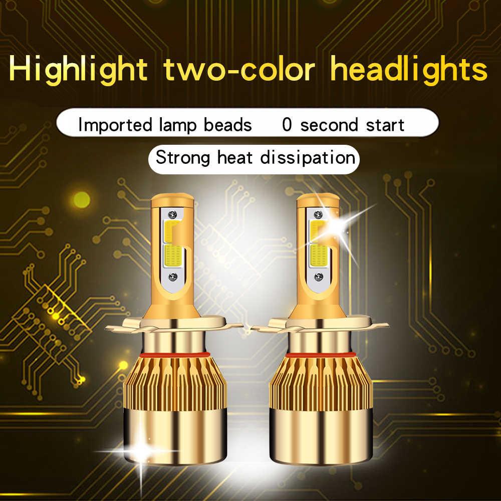 Auto Headlights 12V Led Light H4 H7 H11 H8 H1 H3 Auto C6 Car Headlight Bulbs 38W 4800LM Car Styling 3000K 6000K led automotivo
