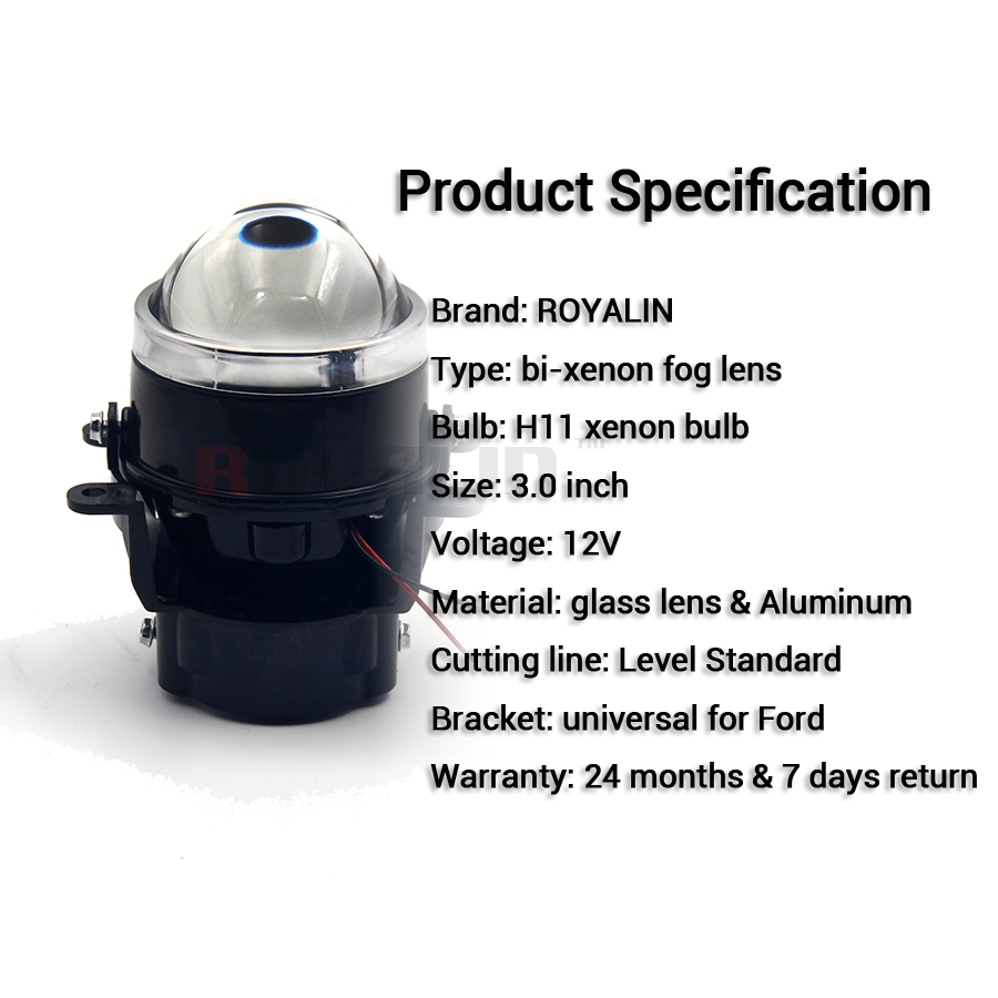 Royalin Car H Fog Lights Lens Kit Bi Xenon Projector Lamp Ignition For Ford Mitsubishi Pajero Subaru Citroen Renault Nissan In Car Headlight Bulbsled