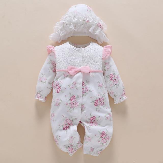 8e31aa525 € 11.15 25% de DESCUENTO|Ropa de bebé recién nacido y monos 0 3 6 meses  manga larga blanco ropa de bebé niña de algodón de impresión de ropa ...
