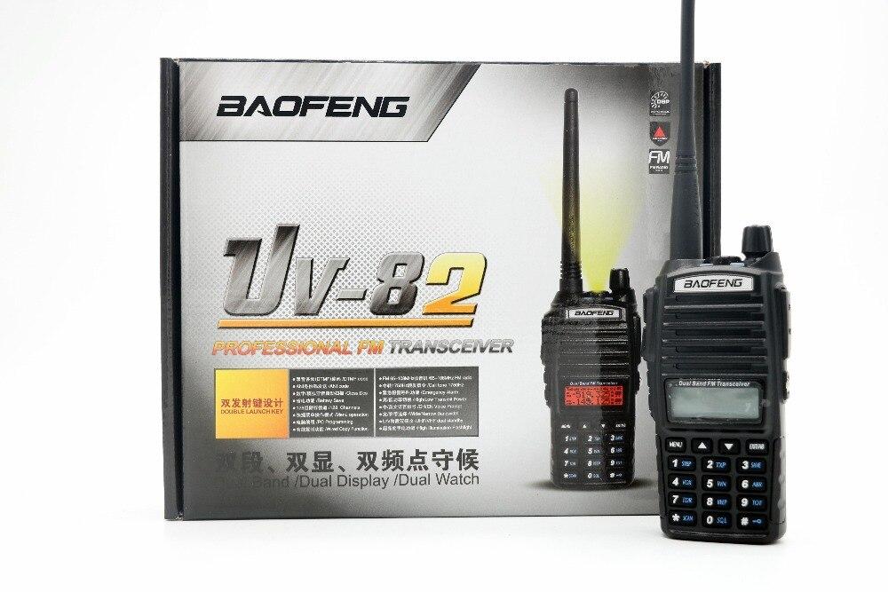 imágenes para 2 unids Baofeng UV-82 Radio de Dos Vías VHF/UHF 137-174/400-520 MHz Dual Band Handheld de Radio con FM y Linterna Walkie Talkie