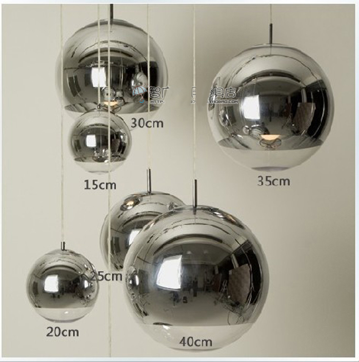 Modern Fashion Plated silver glass ball pendant light fixture home deco E27 dining room DIY chrome pendant lamp