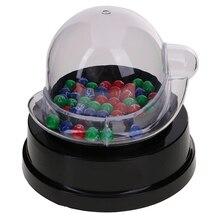 Качественная Мини электрическая машина для сбора счастливых цифр для лотереи бинго паба Клубные Игры продвижение ресторанов кафе игровые принадлежности