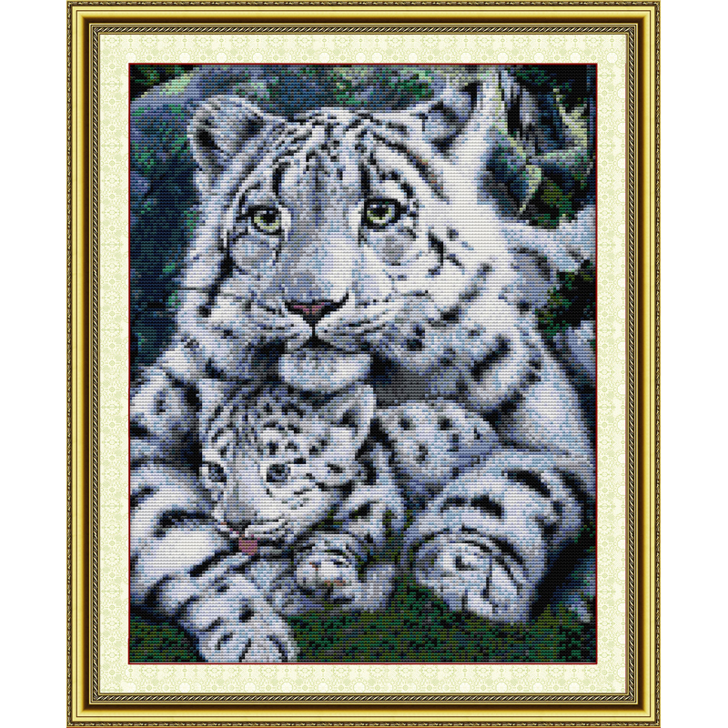 Everlasting love Christmas Care Chinese cross stitch kits Ecological cotton counted stamped 11CT 14CT New store sales promotion