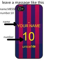 custom football star MESSI jersey Cover Case for iPhone 5S 6 7 6S SE 5C 5 4S 4 7 Plus(China)