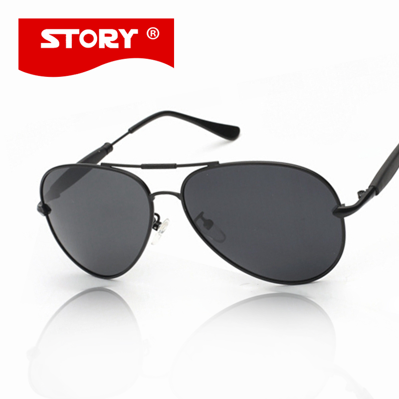 e7afd335035 STORY Hot Sale Polarized Sun Glasses New Male Aviation Lenses Mens Driving  Fishing Reflective Sunglasses Ocolos
