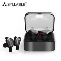 SYLLABLE D9 IPX4 Waterproof Wireless Earbud TWS Bluetooth Sport Headset Metal Charge Case Bluetooth Earphone For
