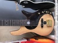 free shipping gold hardware Yin Yang Butterfly Bass Guitar Flamed Maple Top 5 string electric Bass guitar